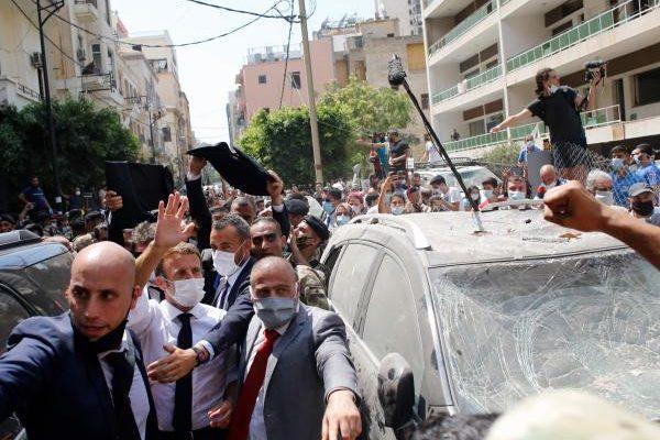 El presidente francés Macron visita Beirut tras la tragedia en Líbano