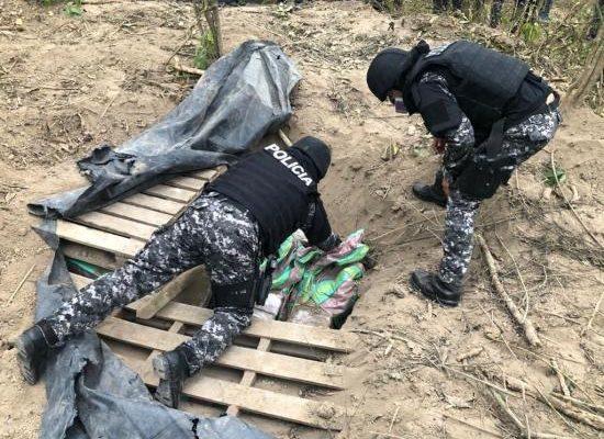 Manabí: Tres toneladas de droga fueron halladas en el sitio Manantiales, en Montecristi